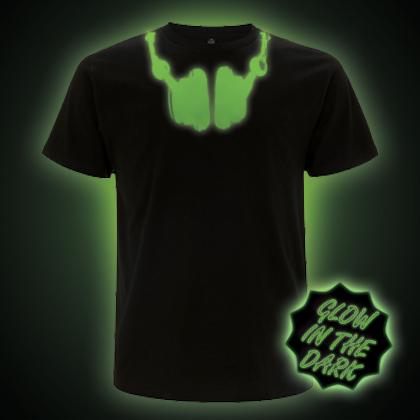 Glow in the dark headphones t-shirt