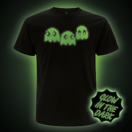 Glow in the dark Pacman Ghosts T-shirt