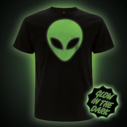 Glow in the Dark Alien Head T-Shirt