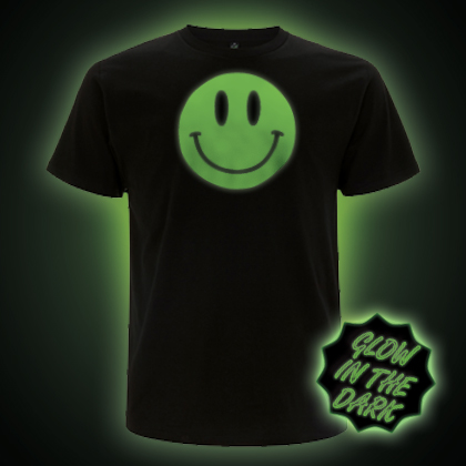Glow in the Dark Smiley Face T-Shirt