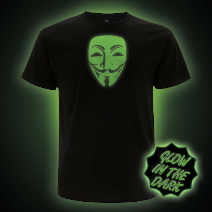 Glow in the Dark V Mask, Guy Fawkes